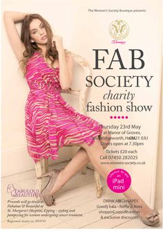 Womans Society charity Fashion show flyer