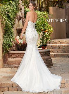 Elegant Beaded Wedding Dresses Bridal Gowns KittyChen PIXIE The White Closet Bridal Tampa
