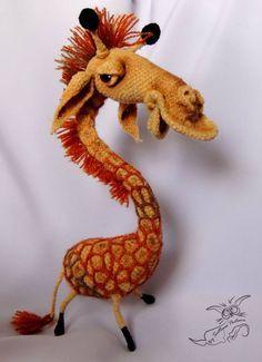 A bit different giraffe - Pattern not available yet. Little Owl's Hut Crochet Giraffe Pattern, Crochet Lion, Crochet Toys Patterns, Crochet Animals, Amigurumi Patterns, Stuffed Toys Patterns, Crochet Dolls, Giraffe Toy, Sewing Toys