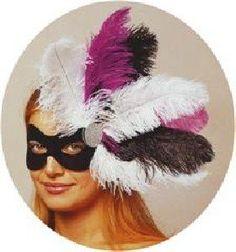 Feathered Venetian Carnival/Masquerade/Party Eye Mask - Purple/Black/White by Fancy Dress, http://www.amazon.co.uk/gp/product/B009017USK/ref=cm_sw_r_pi_alp_qED0qb0J7X0XJ