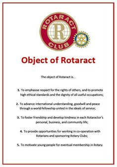 Object of #Rotaract 1. Backpack project 2. John Moolenaar Campaign (for state senate) 3. Special Olympics