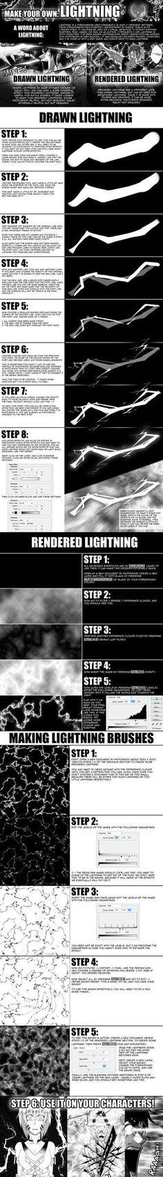 TOW-2: Lightning Tutorial by verticalfish.deviantart.com on @DeviantArt