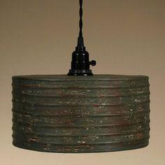 930023_Round Metal Pendant Lamp Rusty Gray 001