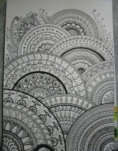 my drawings inspired zentangle®️️️ by Ariane Naranjo, via Flickr