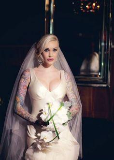 Till Do Us Part Inked Magazine Rockabilly Wedding S Tattooed Brides
