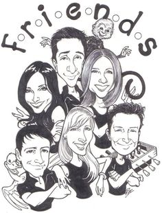 Friends caricature