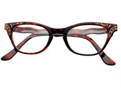 Clear Lens Retro Vintage Cat Eye Glasses Frames Tortoise C542 – FREYRS - Sunglasses at Affordable Prices