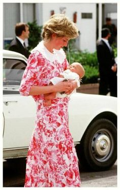 his lovely Memories Of Diana is from April 1987, and shows Princess Diana tenderly holding her God-daughter, Lady Mary Luise Wellesley, daughter of the Marquess of Douro. Diana was pictured at Granada airport in Andalusia, Spain preparing for her return flight to Britain after a four day visit to Spain. Charles and Diana had been guests of baby Mary's parents at their estate in Granada