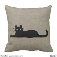 Gifts for Cat Lovers Dyi Pillows, Cute Cushions, Scatter Cushions, Custom Pillows, Throw Pillows, Applique Cushions, Cat Applique, Gifts For Pet Lovers, Cat Gifts