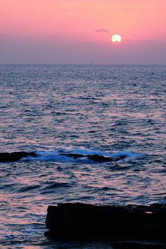 Sunset from Shirahama, Wakayama, Japan 白浜千畳敷からの夕日