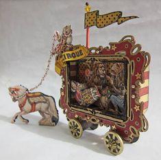 Art - 10 Cute and Creative Ways to Repurpose Altoid Tins . Circus Art, Circus Theme, Circus Train, Altered Tins, Altered Art, Paper Art, Paper Crafts, Toy Theatre, Theater