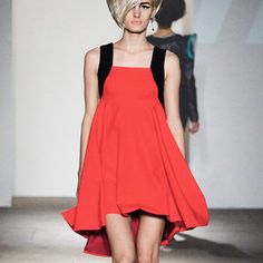 Jutta Dress Flame Red, $300, now featured on Fab.