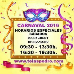 Último sábado tarde que abrimos dentro del horario especial Carnaval 2016; estaremos de 16.30 a 19.30 horas. Para la gente de Oviedo, tenemos tejidos de pelo y polar para la fría tarde y noche que se avecina ❄❄❄ #oviedo #carnaval2016 #antroxu2016 #frío