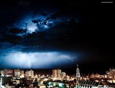 Storm in Comodoro Rivadavia. Argentina