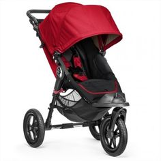 The Baby Jogger City Elite Single Stroller - Red is suitable from birth to approx. With its large all terrain tyres and front wheel suspension, the city elite single provides luxury and comfort over any terrain. Baby Jogger Stroller, Best Baby Strollers, Baby Jogger City, Single Stroller, Double Strollers, City Select Stroller, Mothercare Baby, City Mini Gt, Autos
