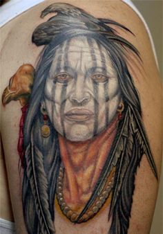 medieval squaw | Eagle Indian Squaw And Wolf Native American Haida Tribal Tattoo ...
