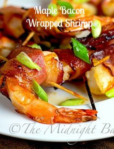 Maple Bacon Wrapped Shrimp: Midnight Baker (You could spin this off to other app ideas also...)