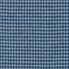 Tissu Lainage Mammoth Flannel Petits Carreaux Blue x 10cm