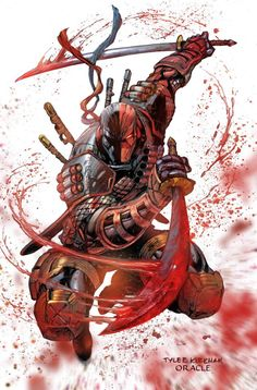 DeathStroke is one of my favorite super villains who's your top three? Art by the incredible . Marvel Dc Comics, Anime Comics, Hq Marvel, Dc Comics Art, Comic Book Characters, Comic Character, Comic Books Art, Comic Art, Dc Deathstroke