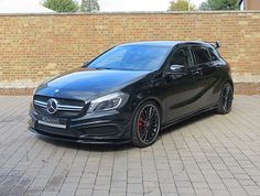 2013/63 Mercedes A45 AMG   Cosmos Black Mercedes Hatchback, Mercedes A45 Amg, Mercedes Benz Cars, A Class Amg, Mercedez Benz, Suv Cars, Luxury Cars, Dream Cars, Motorcycles