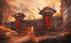 Orgrimmar HotS - Orgrimmar - Wowpedia - Your wiki guide to the World of Warcraft World Of Warcraft, Warcraft Map, Fantasy Art Landscapes, Fantasy Landscape, Fantasy Artwork, Goblin, Heroes Of The Storm, Wow Art, Environment Concept Art