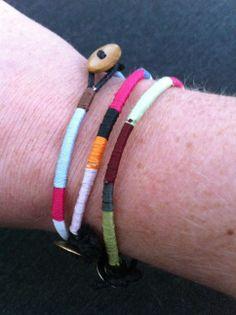 Multicolour wrap bracelets / wikkelgaren