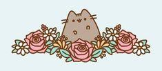 Pusheen + flores = :)