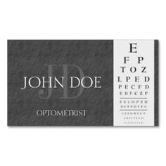 Optometrist chart black business cards by bizcards4u eyedeology optometrist chart dark grey slate stone business card template colourmoves