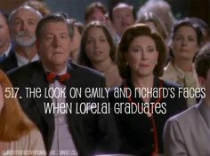 She was finally able to make them proud! :') Gilmore Girls
