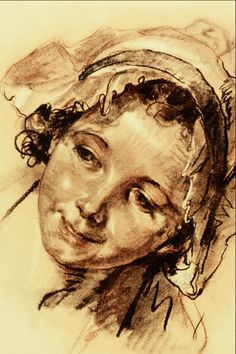Greuze, Jean Baptiste (1725-1805) - Head of a Girl