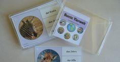 """Miniklammerkarten """"Bunte Tierwelt"""" Schon ewig sind diese neuen Miniklammerkarten auf meiner Festplatte vor sich hin gedümpelt. Nun hab..."""
