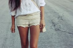cute shorts; works particularly well with a set of tanned legs