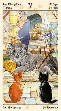 The Hierophant - Tarot of the Pagan Cats