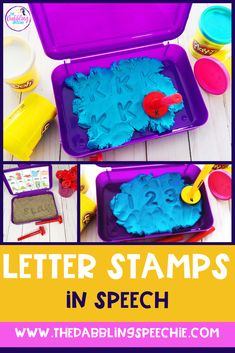 Using Letter Stamps in Speech Therapy - thedabblingspeechie