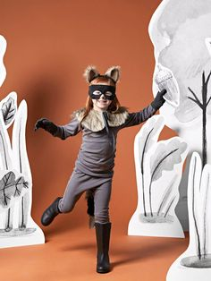 Upcycle a Plain Sweatsuit Into a Cute Raccoon Halloween Costume