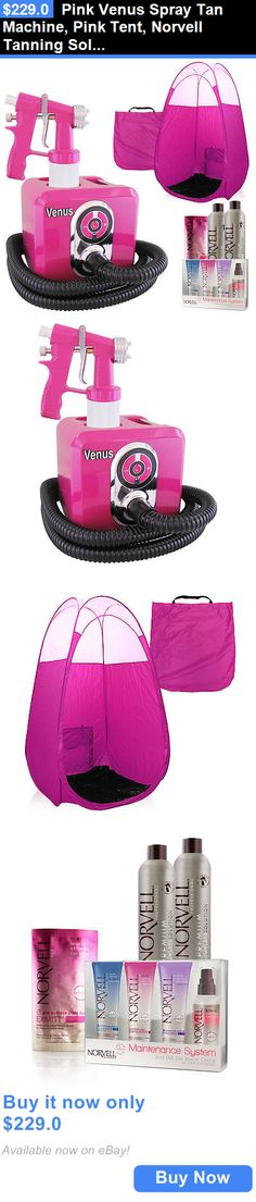 Airbrush Tanning Kits: Pink Venus Spray Tan Machine, Pink Tent, Norvell Tanning Solution And Sunless Kit BUY IT NOW ONLY: $229.0
