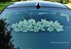 Fioreria Oltre/ Cymbidium orchids wedding car decoration