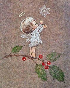 Little Angel ~ Artist Ruth Morehead Vintage Christmas Cards, Christmas Pictures, Christmas Angels, Christmas Art, Vintage Cards, Winter Christmas, Christmas Decorations, Christmas Ornaments, Xmas