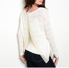 Cream Sweater $16.00