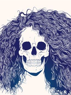 """""""Skull Girls"""", a beautiful series of illustrations created by the graphic designer Gerrel Saunders, aka Gaks. Art And Illustration, Illustrations, Pop Art Vintage, Ghost In The Machine, Poster S, Skull And Bones, Memento Mori, Skull Art, Macabre"""