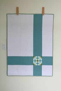 Simple, modern quilt.