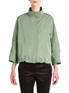 JIL SANDER Long Sleeve Cursor Jacket. #jilsander #cloth #jacket