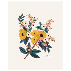 Rifle Paper Co. Marigold Botanical Print $24
