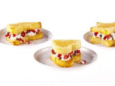 Pound Cake Cut-Out Sandwiches with Strawberry Whipped Cream Recipe : Giada De Laurentiis : Food Network - FoodNetwork.com