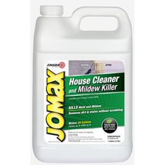 Zinsser Jomax House Cleaner and Mildew Killer - this is fabulous for cleaning mildew from your house, deck, porch, etc.