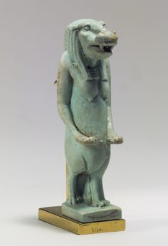 Taweret Amulet  Period: Late Period Dynasty: Dynasty 26–29 Date: 664–332 B.C. Geography: From Egypt Medium: Faience Dimensions: H. 5.1 cm (2 in)