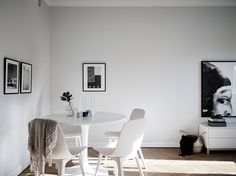 Ikea 'Docksta' tulipe table & 'Odger' chairs