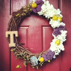 My newest summer time wreath creation! Complete with Genovian pears ;)