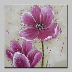 El-Boyalı Natürmort Çiçek/Botanik Yağlıboya,Modern Avrupa Tipi Tek Panelli Kanvas Hang-Boyalı Yağlıboya Resim For Ev dekorasyonu 2017 - $35.99