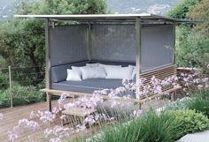 Contemporary garden canopy sofa HORIZON HONEYMOON